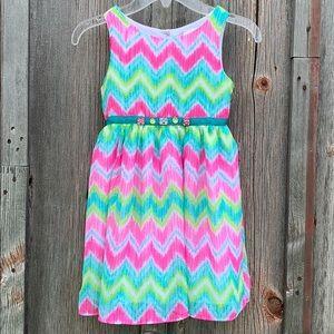 Girls Chiffon Dress - Size 5